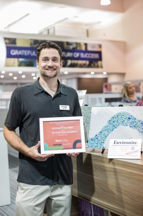 Brad Loder, Environite Recycled Glass Countertop Raleigh's Choice Award Winner